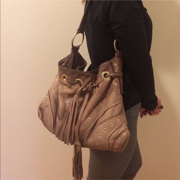 6b467cd2fe2f BULGA Handbags - Le Bulga Large Butterfly brown Leather Hobo Bag
